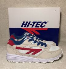 Hi-Tec Trainers Shadow TL SS19 CORP White Red Blue Mens Size 5uk New In Box