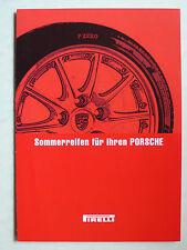 Prospetto PORSCHE/Pirelli pneumatico estivo-per il vostro Porsche, 10.2002, 4 pagine