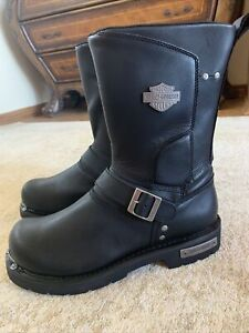 Harley-Davidson D96137 Men's Paxford Performance Black Motorcycle Boots Size 11