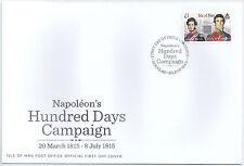 IOM Isle of Man MANX 2015 FDC commemoratives Napoleon's cento giorni campagna