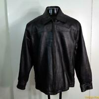 COUGAR Soft Leather JACKET Mens Size XL Black insulated zippered