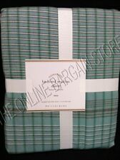 Pottery Barn Bedford Madras Plaid Check Bed Duvet Cover Twin Blue Summer Spring