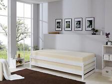 ANGEBOT Stapelliege Stapelbett Kiefer Weiß 2er Set B-Ware