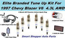 1997 Chevrolet Blazer V6 4.3L K&N Air Filter, Oil Filter, Wix Fuel Filter, Spark