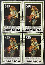 Jamaica Scott # 840 (Bob Marley $10 1995) Block of 4 USED