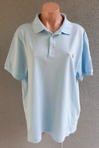 💜 Men's POLO RALPH LAUREN Cotton Polo Shirt Blue Size 2XL Buy7=FreePost L803
