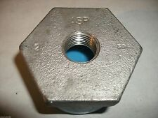 """Hex Bushing 2 x 1/2"""" Threaded 304 Stainless Steel Class 150"""