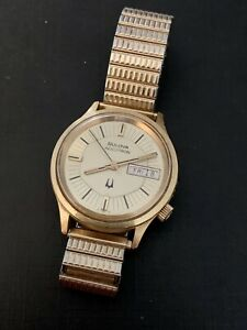 Vintage 60's Bulova Accutron Cal 2182 Day Date Great Condition Running