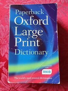 Oxford Large Print Dictionary Paperback Book in Association with RNIB
