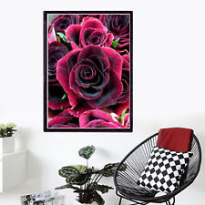 Rose Drill DIY 5d Diamond Painting Embroidery Cross Stitch Kit Wall Decor UK