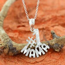 Number One MAMA Pendant -Sterling Silver- Best Mom,Mom to Be,Cute Gift,Lovely