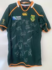 Signed 2011 South Africa Rugby Jersey