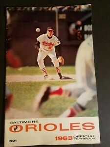 LARGE EDITION 1963 BALTIMORE ORIOLES MLB MAJOR LEAGUE BASEBALL OFFICIAL YEARBOOK
