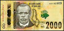 Malawi 2016 year 2000 Kwacha BrandNew Banknots