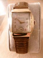 Montre BENRUS Original Unisex Mécanique Art Deco Vintage Mechianical  Curvex