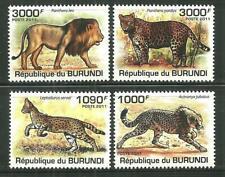 BURUNDI 842-45 MNH WILD CATS SCV 13.50