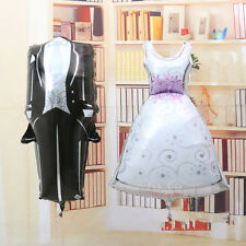 1 set Bride and Groom Dress Shape Foil Balloon Wedding Party Decoration Supplies