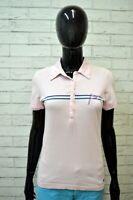 Polo MELTIN POT Donna Taglia S Shirt Manica Corta Maglia Rosa T-Shirt Elastica
