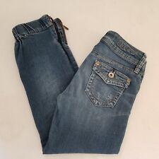 G by Guess Capri Jeans Waist 24 Inseam 23 Leg Zipper Button Flap Pockets W26MP