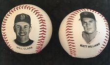 Will Clark 1993  & Matt Williams 1992 SF Giants Chevron photo baseballs MLB