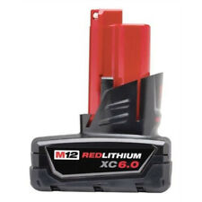 Genuine Milwaukee M12 12 Volt XC 6.0Ah Extended Capacity Red Battery 48-11-2460