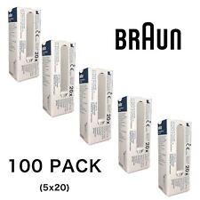 100 X braun Pièce de Rechange Filtre Objectif Sonde Housses pour Thermoscan
