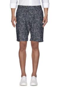 Ted Baker Mens Navy Floral Bermuda Chino Shorts Size 34 Like New