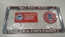 Indiana Hoosiers Metal License Plate Frame IU - Officially Licensed Car Truck