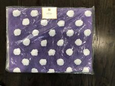 "Pottery Barn Teen Dottie Bath Mat 22"" x 34"" Purple NEW"