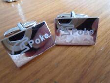 Poke Silver Coloured Metal Cufflinks