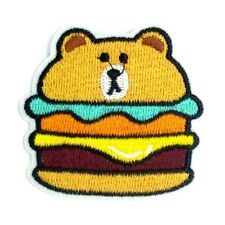 usa Pooh Bear Hamburger Iron on Patches Embroidered Badge Patch Applique 1534