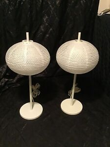 2 White IKEA TABLE LAMP  SHADE RICE PAPER ~~