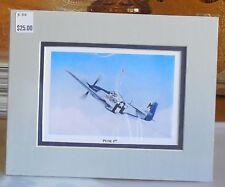 LtCol JC Meyer's P-51 Mustang Petie 3rd 8X10 Matted Print by Willie Jones Jr.
