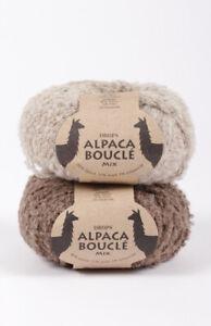 Alpaca Yarn, Boucle Worsted Weight Yarn, ALPACA BOUCLE, Natural Colors, 1.8 oz