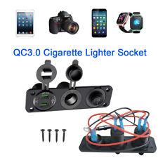 12V Etanche Allume Cigare Dual USB Prise Chargeur Adaptateur Auto Voiture Socket