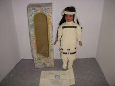 """Friendly Home Parties, 15"""" Native American Indian Porcelain Doll, Coa, W/Box!"""