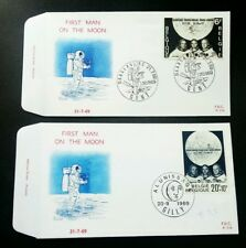 Belgium First Man On The Moon 1969 Space Astronomy Astronauts Apollo (FDC pair)