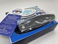 TRM Three Rivers Manufacturing ATOM DLC Knife, Matte Carbon Fiber, 20CV - SEALED