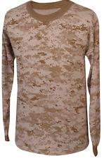 Men's T-Shirt - Long Sleeve - Desert Digital Camo - Made in the USA