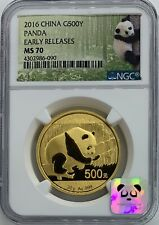 2016 MS70 Early Releases / POP 537 / 30g Gold Panda G500Y / 500 Yuan 1oz NGC
