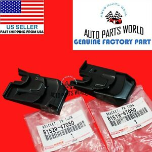 GENUINE OEM TOYOTA 12-15 PRIUS RIGHT & LEFT FRONT TURN SIGNAL LIGHT BRACKET SET