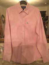 ABERCROMBIE & FITCH QUALITY SMART SHIRT (PINK PINSTRIPE) size LARGE