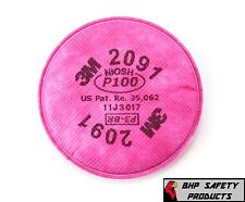3M 2091 PARTICULATE FILTER PADS CARTRIDGES P100 DUST PROTECTION (1 PAIR PACK)
