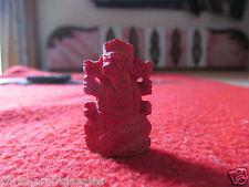 Natural Fiber coral Munga Hand Craved Ganesha Ganesh For Car Home Office Shop
