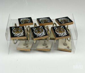 Set 12 Lynn Chase Designs Jaguar Jungle Bathroom Shower Curtain Hooks w Box MAB
