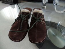 BARE TRAPS DARK BROWN  FAUX FUR LINING SHOES/WEDGES SZ 7M
