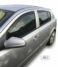 VAUXHALL ASTRA mk5 H 5-doors Hatchback 2004-09 4-pc Wind Deflectors HEKO Tinted