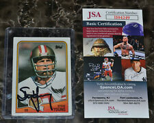 JSA COA Steve Young 49ers Signed Autographed Football Card 1988 Topps