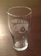 V T4 W T5 ETCHED CAMPER SURF BUS PINT GLASS  FUN CHRISTMAS GIFT PRESENT SURFING