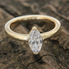 1.70 Ct Diamond Marquise Cut 14k Yellow Gold Finish Solitaire Engagement Ring